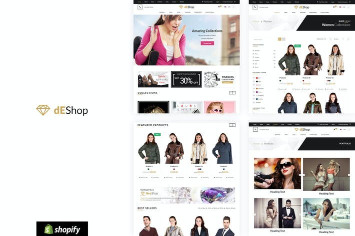 Thumbnail for Deshop - Modèle de boutique Shopify Responsive