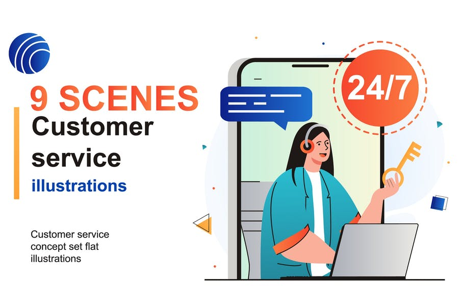 Customer Service Web Scenes Set