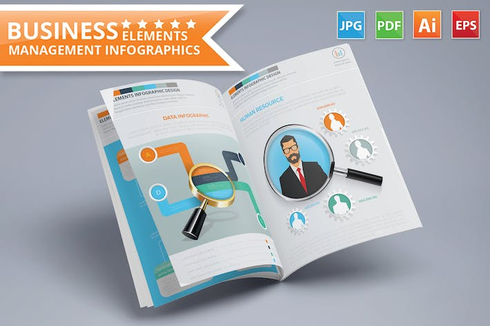 Thumbnail for Business Management Infographics 17 Pages Design