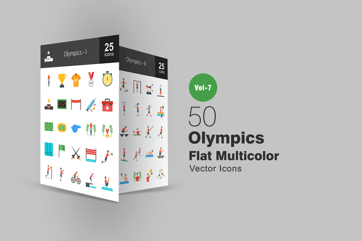 Thumbnail for 50 Olympics Flat Multicolor Icons