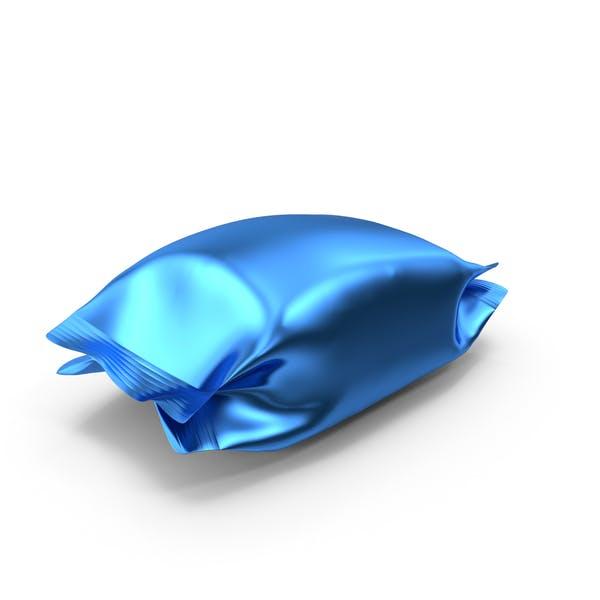 Blue Foil Snack Package