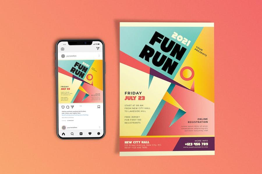 Fun Run Template Set