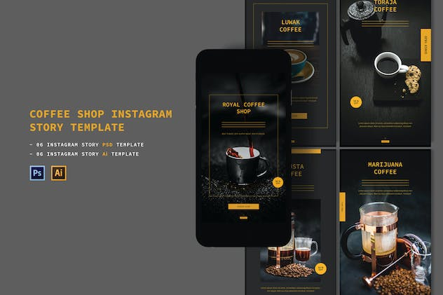Coffee Shop Instagram Story - product preview 0