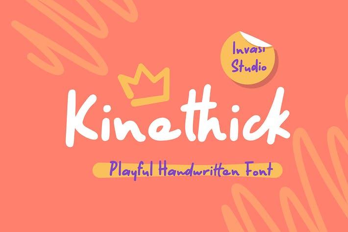 Thumbnail for Kinethick | Playful Font