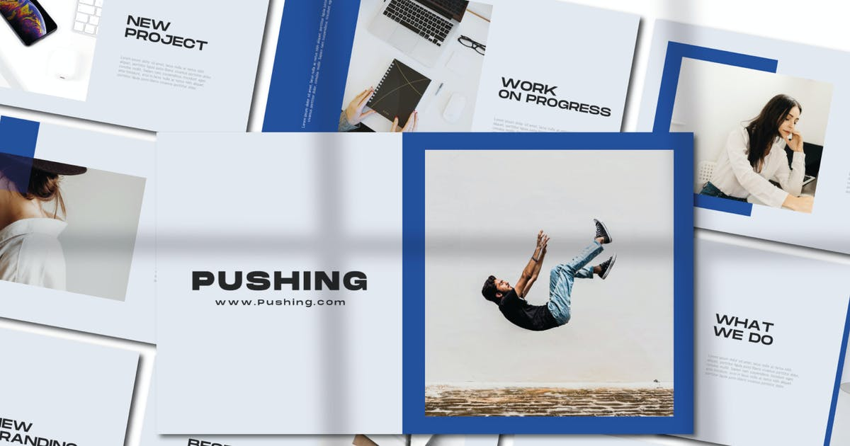 Download Pushing Keynote Template by axelartstudio