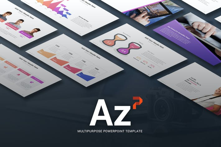 Thumbnail for Az - Multi-purpose Powerpoint Template