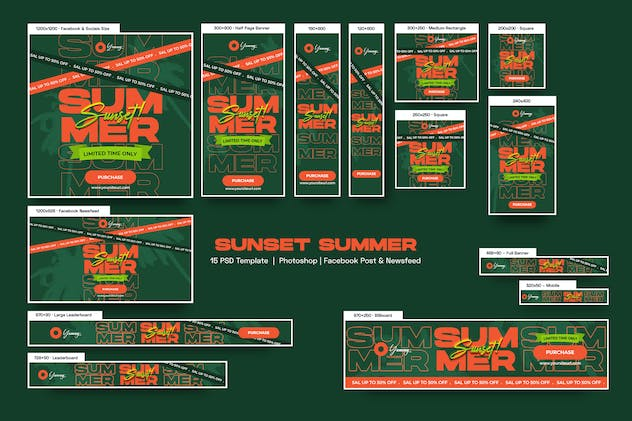 Sunset Summer Banners Ad