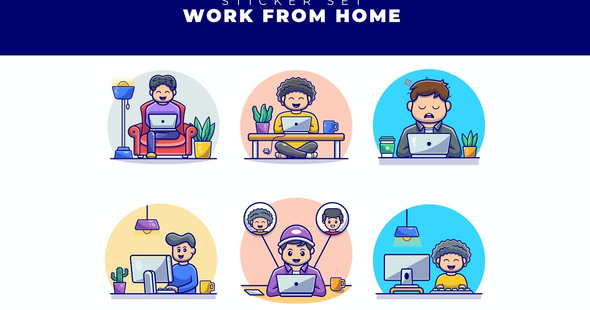 Download WORK FROM HOME STICKER PACK by SecondSyndicate