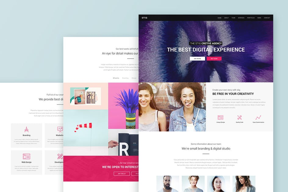 Download Stig - Multipurpose One/Multi Page Template by Bestlooker