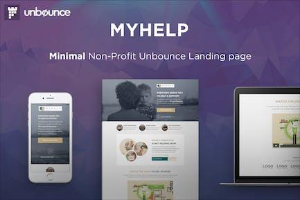 MyHelp - Шаблон целевой страницы некоммерческого неотказов