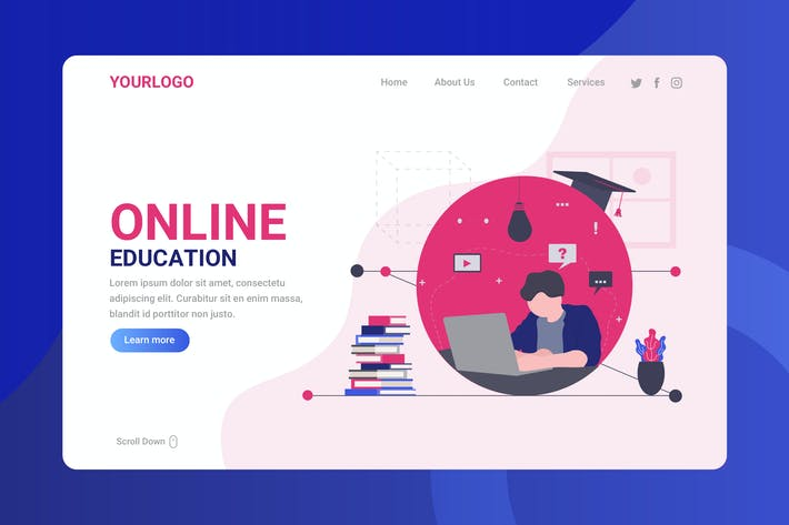 Thumbnail for Online Education - Landing Page