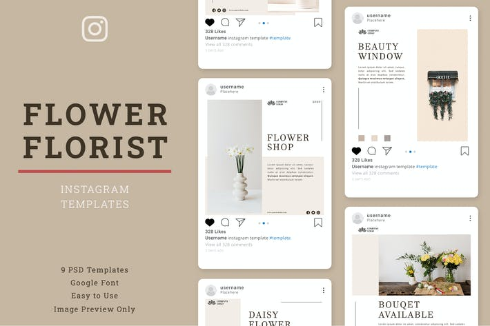 Thumbnail for Florist Instagram Post Template