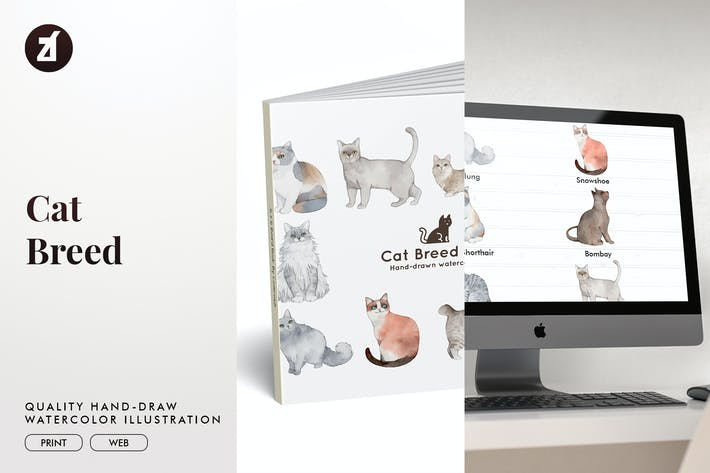 Thumbnail for Cat Breed hand-drawn illustration