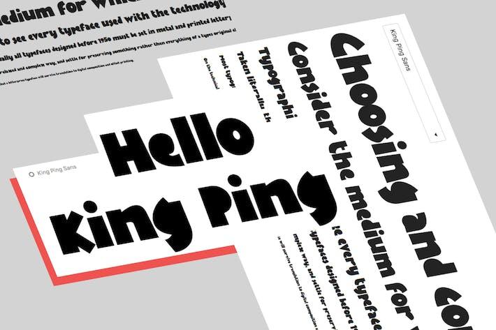 Thumbnail for KingPing, police d'affichage super décontractée