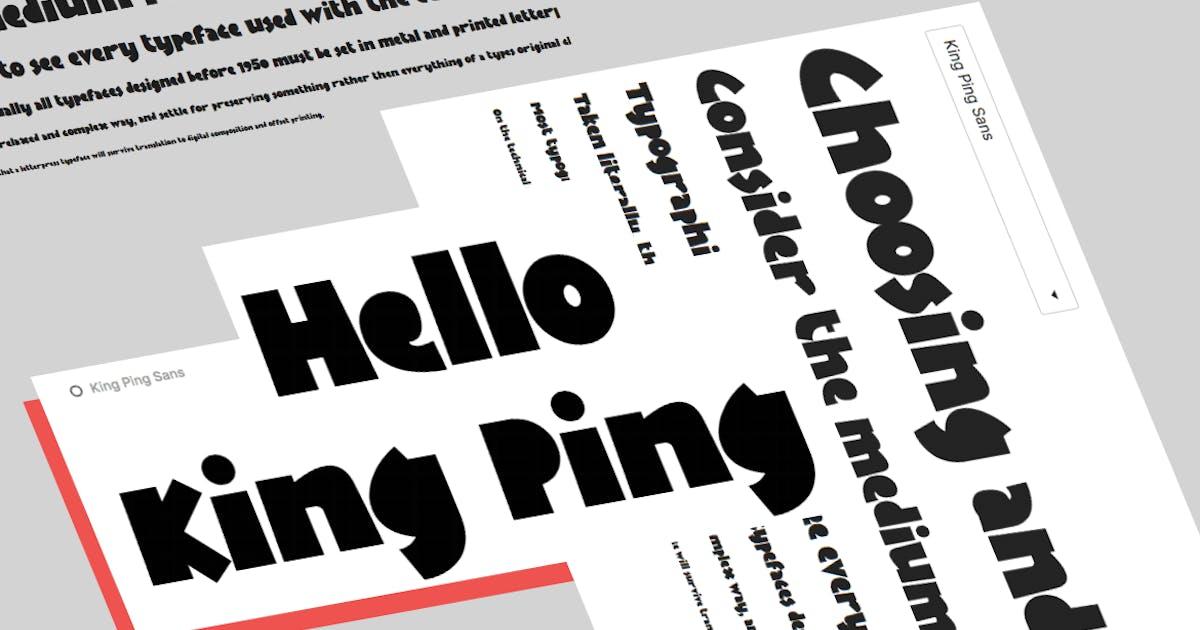Download KingPing, super casual display font by sukmaraga