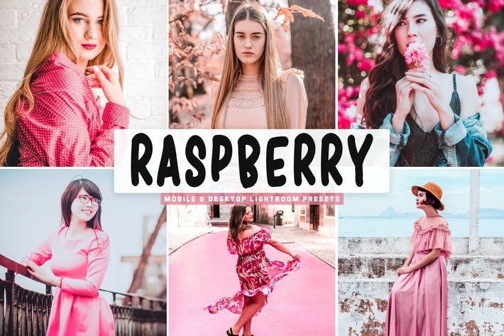 Thumbnail for Raspberry Mobile & Desktop Lightroom Presets