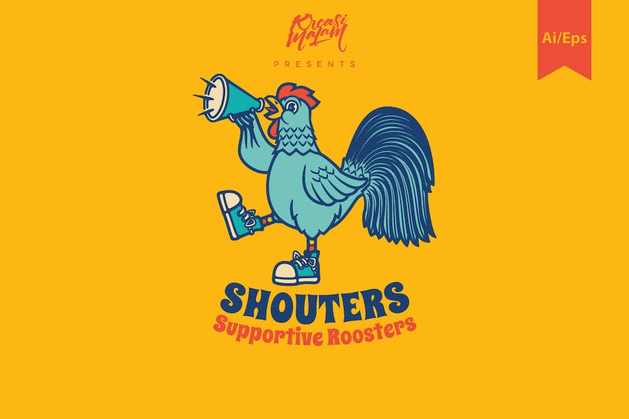 Shouters Logo Template