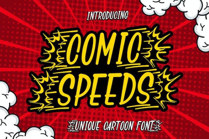 Thumbnail for Velocidades de cómic - Fuente de pantalla de dibujos animados