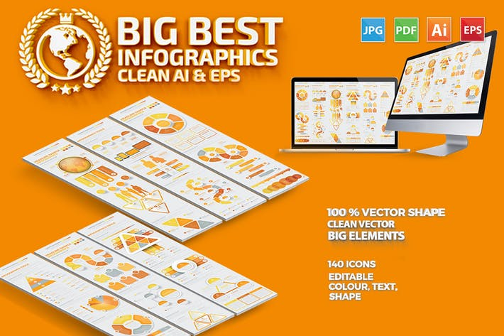 Thumbnail for Yellow Data Infographics Design