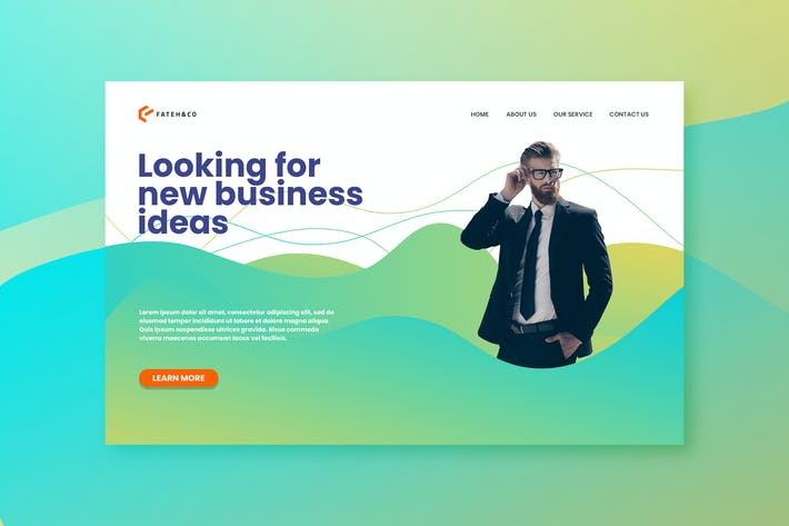 Thumbnail for Business Landing Page