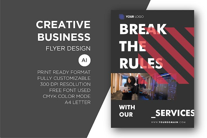 Thumbnail for Creative Business - Flyer Design Template Vol.02