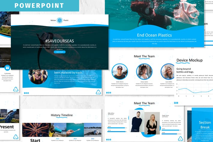 Thumbnail for Plastic - Oceanic Powerpoint Template