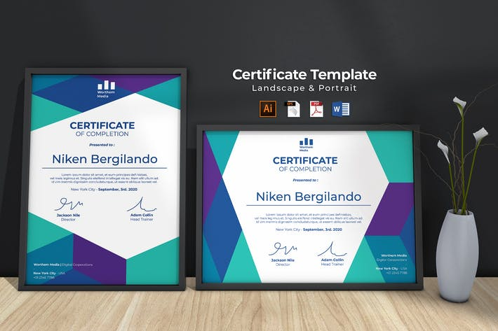 Thumbnail for Modern Certificate Template