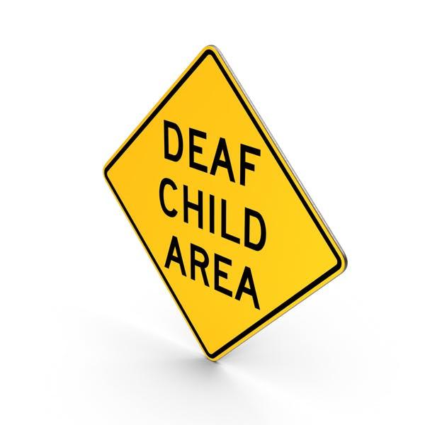 Deaf Child Area Sign