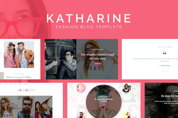 Cover Image For Katharine - Modern Fashion Blog HTML Template