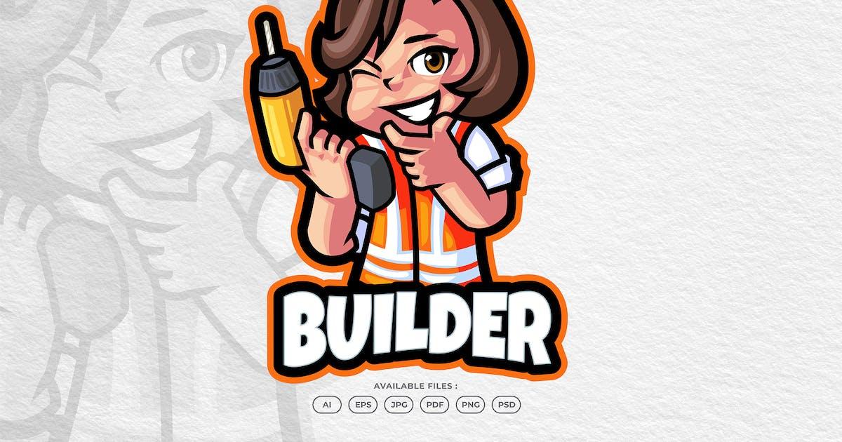 Download Builder Service & Repair Cartoon Mascot Logo by yogaperdana7