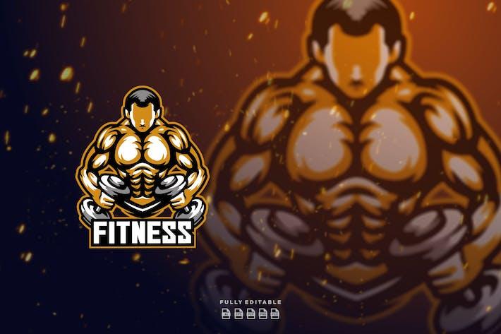 Fitness Gym Mascot Logo
