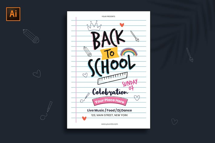 Thumbnail for Back to School Flyer/Poster Template