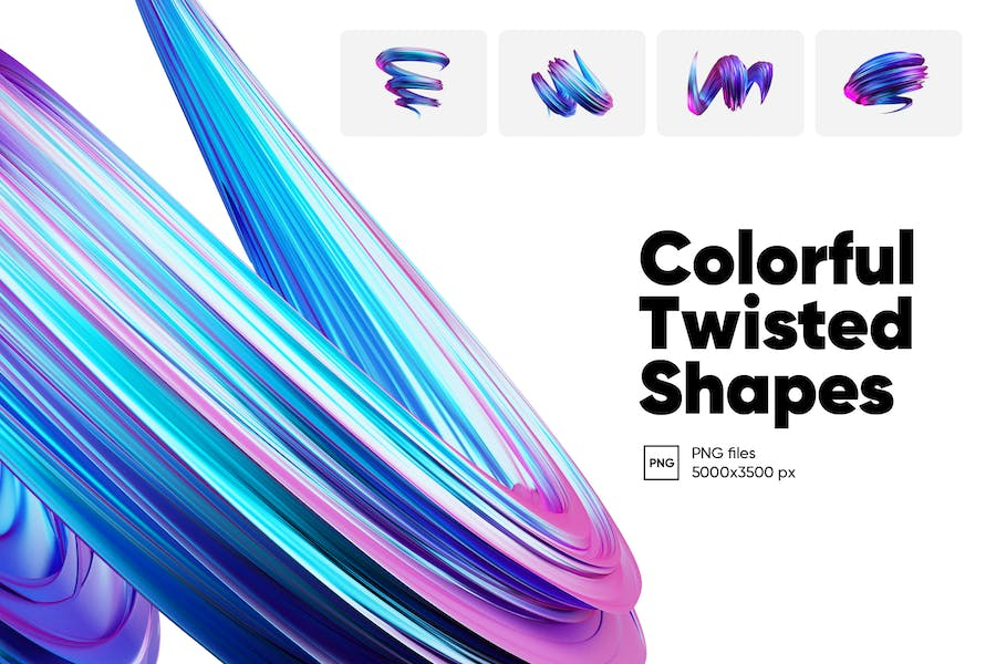 Colorful Twisted Shapes