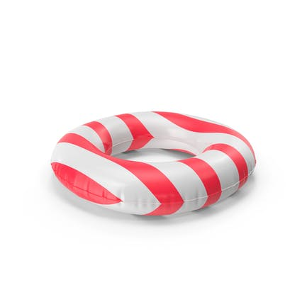 Pool Tubes with Red Striped Print