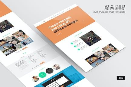 Gabis – Web Page PSD Template
