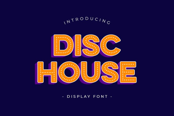 Thumbnail for Disc House Display Font