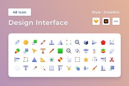 Design Interface Gradient Icon Set