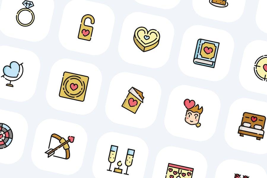 50 Valentinstag-Icons