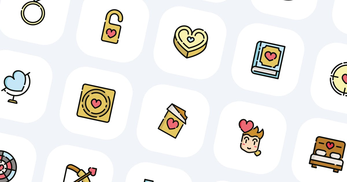 Download 50 Valentines Day Icons by Guapoo