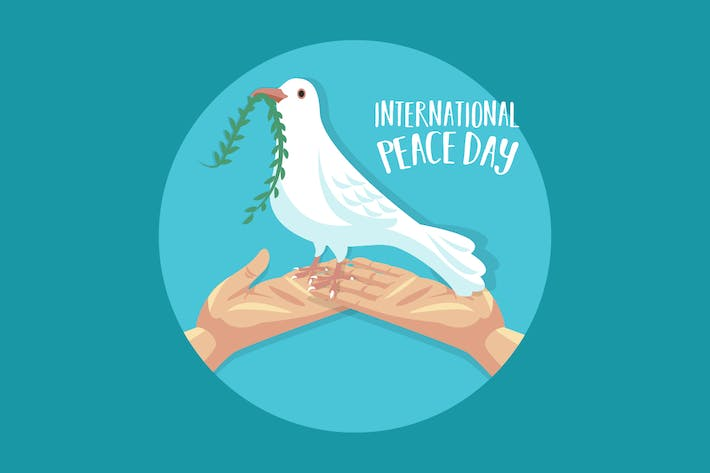 Thumbnail for International Peace Day Dove and Hands
