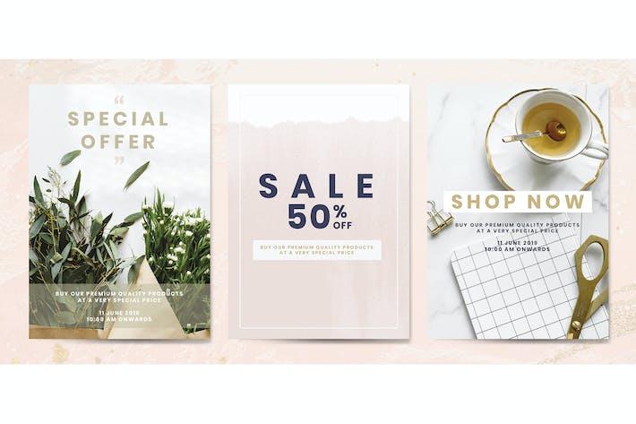 Thumbnail for Shop sale promotion advertisement template