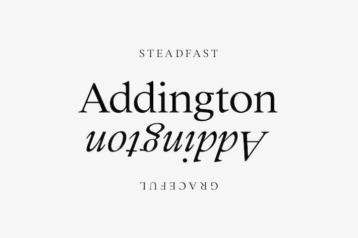 Addington CF | schöne Serif Schriftfamilie