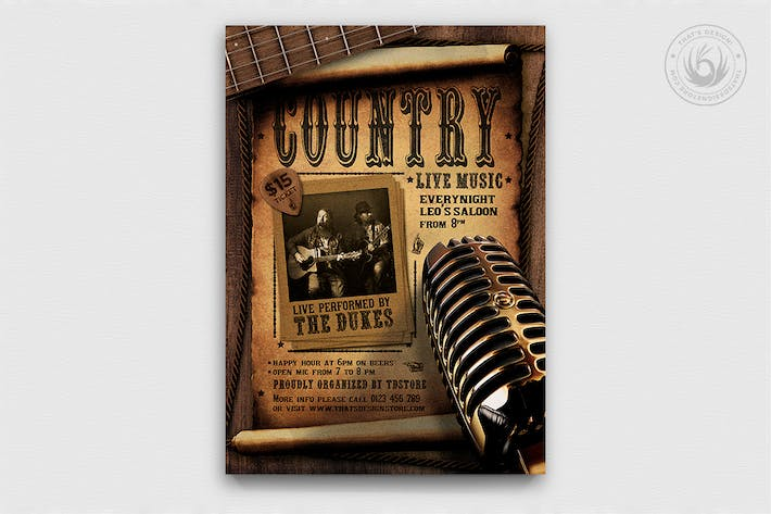 Thumbnail for Country Live Flyer Template V5