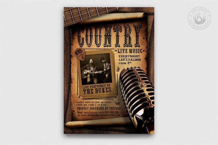 Thumbnail for Country Live Flyer Vorlage V5