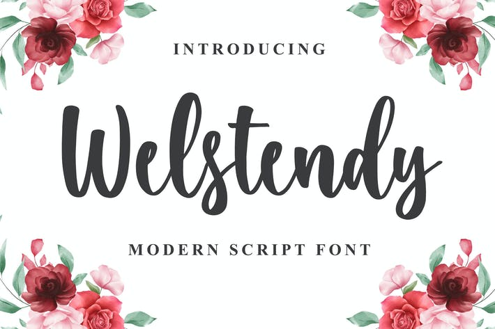 Thumbnail for Welstendy - Modern Calligraphy Font