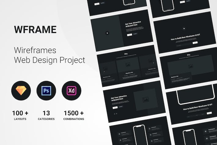 Thumbnail for Wireframe Website