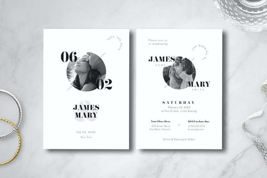 Simple Wedding Invitation 03