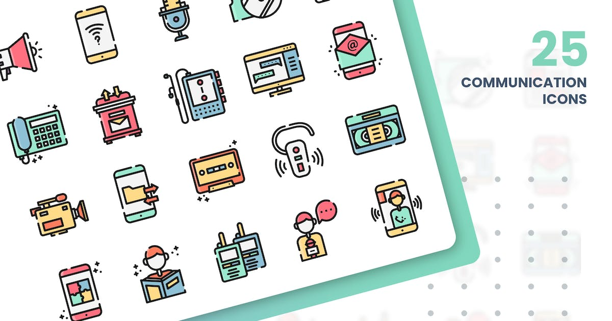 Download Communication And Media Icons Set by grafikonteam