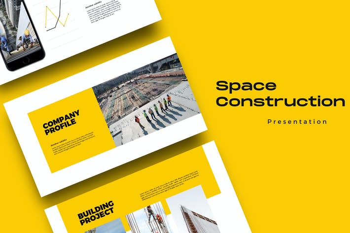 Thumbnail for Space Construction - Business Google Slides