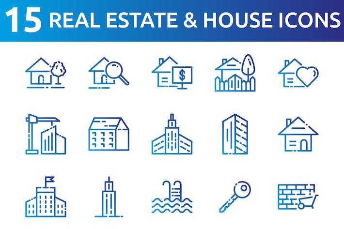 Thumbnail for Real Estate And houses Icons